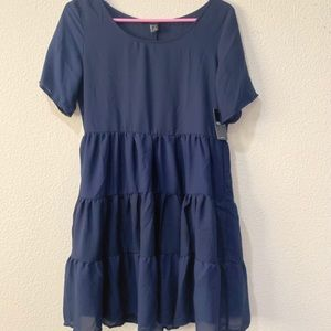 NWT Forever 21 blue baby doll dress